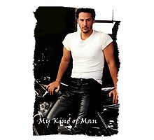 My Kind Of Man (Keanu Reeves Biker) Photographic Print