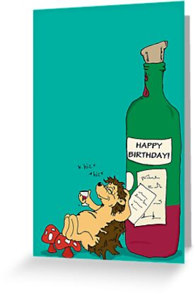 Birthday Card - Hetty - Wine Lover by Anidoodle