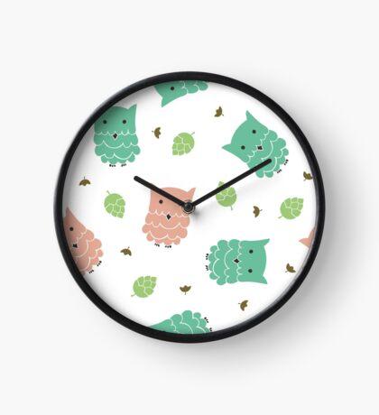 Cute cartoon owls Clock