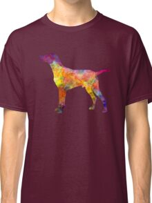 Hungarian Shorthaired Pointer in watercolor Classic T-Shirt