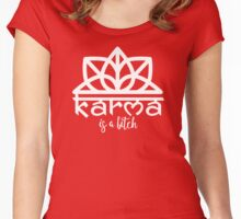 KARMA IS A BITCH WOMEN TEES - LIMITED EDITION Women's Fitted Scoop T-Shirt