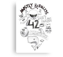 Hitchhiker's Guide to the Galaxy Metal Print