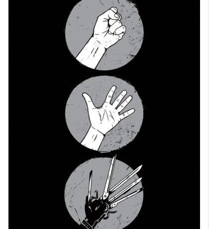 Rock, Paper, Scissor....hands Sticker