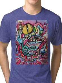 Abstract Gobbler Original art By Jose Juarez Tri-blend T-Shirt