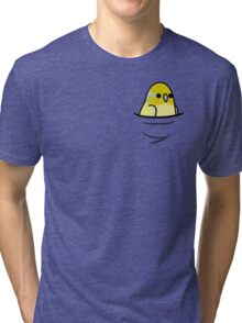 Too Many Birds! - Yellow Pacific Parrotlet Tri-blend T-Shirt