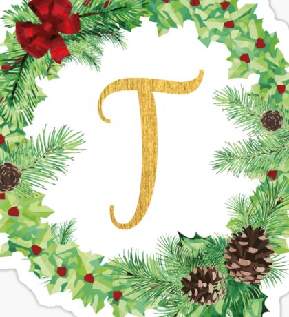 Christmas Monogram T Sticker