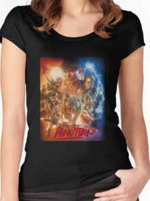 Kung Fury Fiction Film  Women's Fitted Scoop T-Shirt