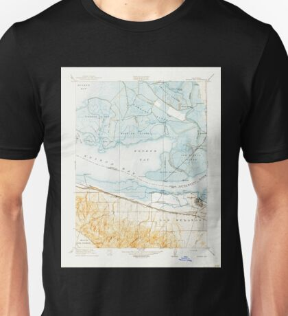 USGS TOPO Map California CA Honker Bay 296169 1918 31680 geo Unisex T-Shirt