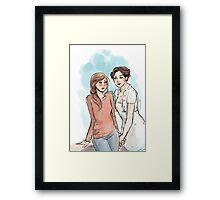 BBC sherlock molly and Irene Framed Print