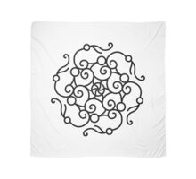 New art in atelier : Black and white Mandala hand-drawn Art Scarf