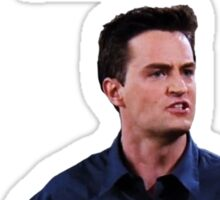 "Chandler Bing - ""I'm hopeless and awkward and desperate for love."" (black version) Sticker"
