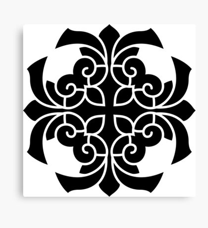 New in atelier. Luxury designers fashion : black and white Canvas Print