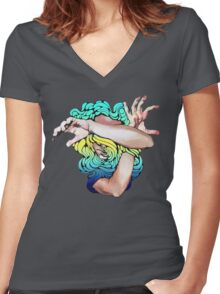 Wallflower (Social Disease Original) Women's Fitted V-Neck T-Shirt