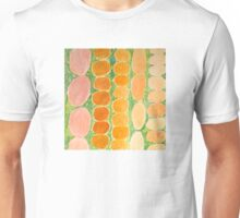 Rows of Round and Reddish Food on Green Unisex T-Shirt