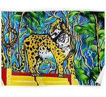 Aztec  Art Jaguare 2 Poster