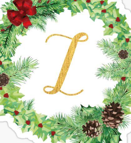 Christmas Monogram Z Sticker