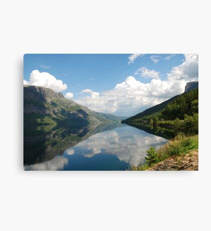Greetings from Norway Canvas Print
