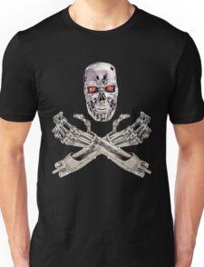Terminator Skull and Crossbones Unisex T-Shirt