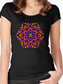 Om Mandala Women's Fitted Scoop T-Shirt