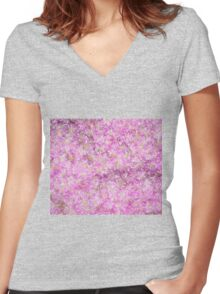 Sketcher's Daydream of Pink Daisies Women's Fitted V-Neck T-Shirt