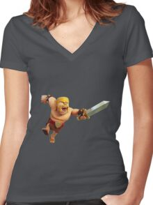 Clash of Clans Women's Fitted V-Neck T-Shirt