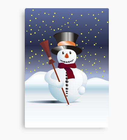 Snowman for Xmas Canvas Print