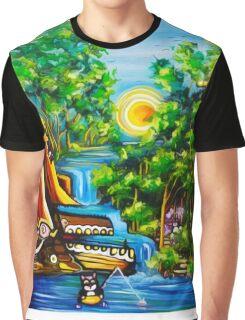 fishing kittens / cat fantasy by JOSE JUAREZ !! Graphic T-Shirt
