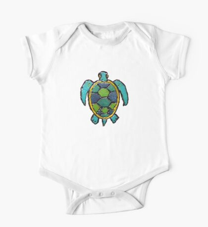 Sea Turtle One Piece - Short Sleeve