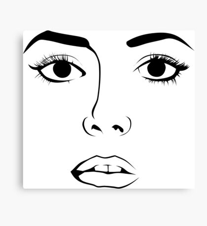 Face OF Woman  Canvas Print