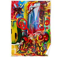 Abstract Fly World By JOSE JUAREZ !!  Poster