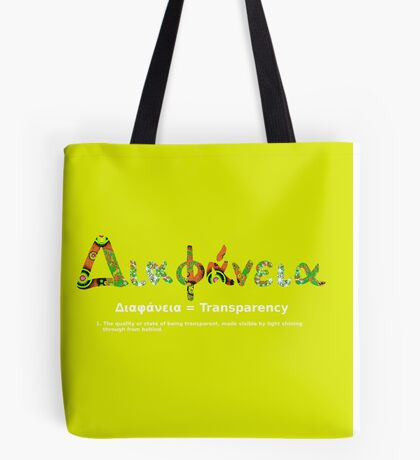 GREEK TRANSPARENCY Tote Bag