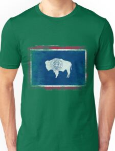 Wyoming State Flag Distressed Vintage Shirt Unisex T-Shirt