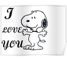 SNOOPY I LOVE YOU Poster