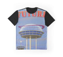 Fly into the Future vintage sci-fi poster Graphic T-Shirt