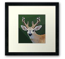 Minimalist Deer- King of the Forest Framed Print