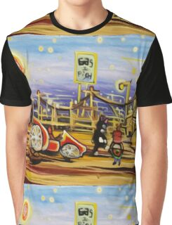 OUT OF GAS KITTEN FANTASY ART  Graphic T-Shirt