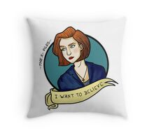 X-Files, I want to believe Throw Pillow