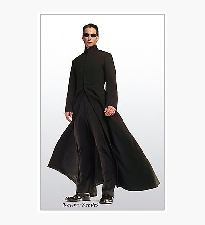 Keanu Reeves in Matrix Reloaded Photographic Print