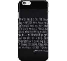 to write love on her arms iPhone Case/Skin