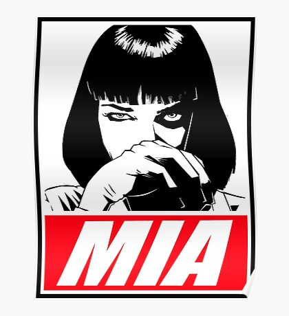 Pulp Fiction Mia Wallace Poster