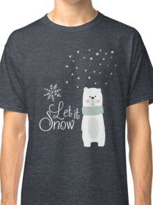 Let It Snow Bear Grey Classic T-Shirt