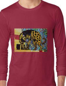 Aztec Jaguare 2 Original Artwork by Jose Juarez Long Sleeve T-Shirt