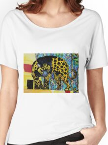 Aztec Jaguare 2 Original Artwork by Jose Juarez Women's Relaxed Fit T-Shirt