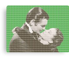 Gone With The Wind - Green Canvas Print