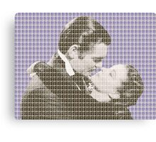 Gone With The Wind - Violet Canvas Print