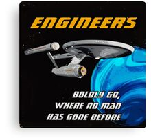 The Engineer Enterprise Canvas Print