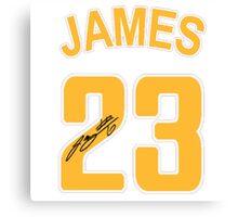 Lebron James 23 NBA Canvas Print