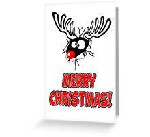 Merry Xmas - Reindeer Cartoon Greeting Card