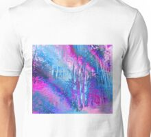 Psychedelic Forest (blue-pink) Unisex T-Shirt