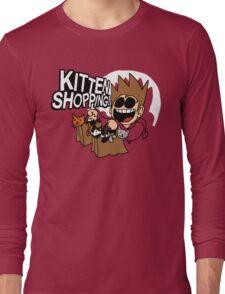 EDDSWORLD KITTEN SHOPPING Long Sleeve T-Shirt